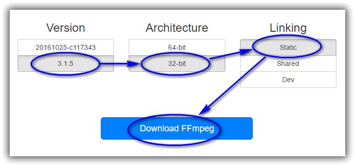 FFmpeg Windows バージョンをダウンロードする手順